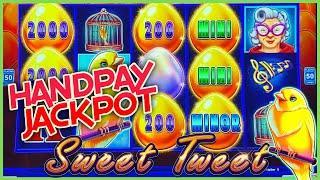 HIGH LIMIT Drop & Lock Sweet Tweet HANDPAY JACKPOT ⋆ Slots ⋆$25 Bonus Round Lock It Link Slot Machin