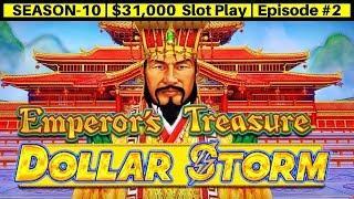 Dollar Storm EMPEROR's Treasure Slot Machine Live Play & Bonus   Season 10   Episode #2