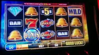 Twin Fire Quick Hit Hot Shot Slot Machine - Live Play & Bonus