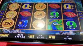 Dragon Cash $1.25/$2.50 live pay pokie/slot/21
