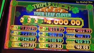 New $1 Slot?? TRIPLE LUCKY FOUR LEAF CLOVER SLOT [Free Play] [get money] アカフジ, San Manuel Casino
