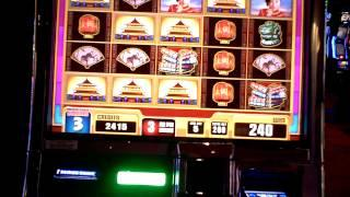 Slot machine bonus win on China Moon II at Revel Casino in AC