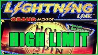 • HIGH LIMIT •Link + WILD •  + Bonus Times • Slot Machine Pokies w Brian Christopher