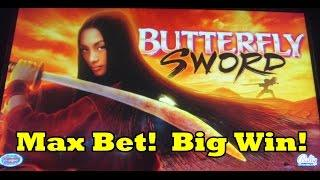 Bally - Butterfly Sword - Max Bet - Huge Win!