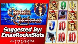 Captain Cutthroat Slot - Suggested By EmanRocknSlots, Live Play, Free Spins and Nice Line Hits