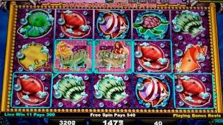 Mystical Mermaid Party Slot Machine Bonus - 10 Free Games Win with Wild Mermaids