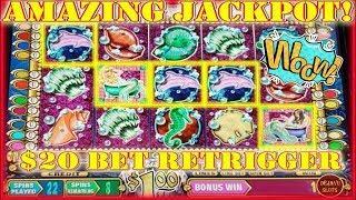 WOW! We Hit A HUGE JACKPOT on Mystical Mermaid HIGH LIMIT Slot Machine