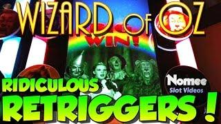 Wizard of Oz - Road to Emerald City Slot Machine • ReTriggerFest! • Max Bet!