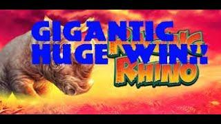 RAGING RHINO (WMS)  NEW *MONSTER* MEGA HUGE WIN. NEW YEARS DAY SPECIAL!