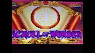 * KONAMI SCROLL OF WONDER * 2 Big Win Free Spin Bonuses