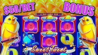 HIGH LIMIT Drop & Lock Sweet Tweet ⋆ Slots ⋆$50 MAX BET Bonus Round Slot Machine Casino