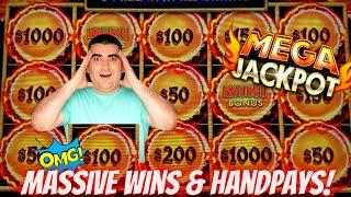 New HIGH LIMIT Dragon CASH Slot HUGE HANDPAY JACKPOTS | High Limit Live Slot Play In Las Vegas COSMO