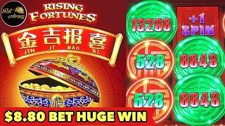 •$8.80 BET HUGE WIN•RISING FORTUNE NEW BONUS SLOT MACHINE