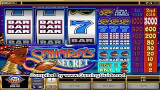 All Slots Casino's Sahara's Secret Classic Slots