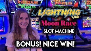 Lightning Link Moon Race! BONUS! Nice WIN!!
