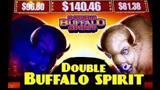 *NEW* DOUBLE BUFFALO SPIRIT slot machine BONUS WINS (3 videos)