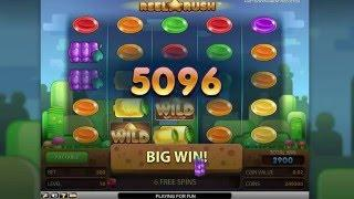 NETENT Reel Rush Slot REVIEW Featuring Big Wins With FREE Coins