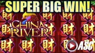 •SUPER BIG WIN!• CHINA RIVER (BALLY) Slot Machine Bonus & Line Hit Wins!