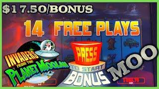 ★ Slots ★Invaders Return From The Planet Moolah ★ Slots ★ $17.50 Spin Session Slot Machine ★ Slots ★