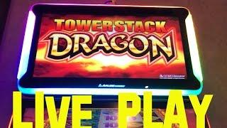 Tower Stack Dragon live play max bet $4.00 ARUZE Slot Machine