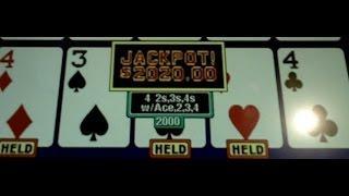 All Star Poker Four 4's~w:Ace,2,3,4