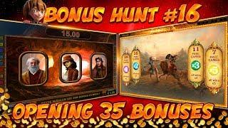 BONUS HUNT #16 - OPENING 35 SLOT BONUSES LIVE ON STREAM! - BIG WINS?