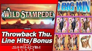 Wild Stampede Slot - TBT, Live Play, Line Hits and Free Spins Bonus