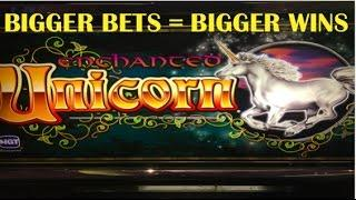 HUGE WINS on my Favorite Game!  JACKPOT HANDPAY on ENCHANTED UNICORN! Live play and big wins!