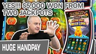 ⋆ Slots ⋆ YES!!! $5,000+ WON from 2 JACKPOT HANDPAYS! ⋆ Slots ⋆ Ultra Hot Mega Link in LAS VEGAS