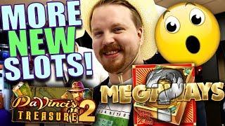 Book of Megaways + Da Vinci's Treasure 2!? • - New slots ICE 2019 | Vlog 37
