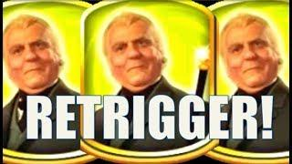 •FLASHBACK FRIDAY!• SUPER RARE RETRIGGER on RUBY SLIPPERS (WMS) Slot Machine Bonus • mail4albert