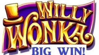 Willy Wonka Slot Machine Grandpa Spins Bonus BIG WIN!