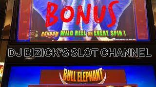 •BULL ELEPHANT SLOT MACHINE• •FREE SPIN BONUS •KINGS CLUB CASINO•