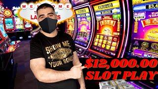 $12,000 On High Limit Slot Machines In Las Vegas | High Limit Rising Fortunes & Lightning Link Slots