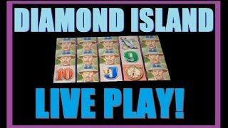 ★ DIAMOND ISLAND SLOT MACHINE!! LIVE PLAY On Diamond Island And Slot Machine Bonus! ~Aristocrat