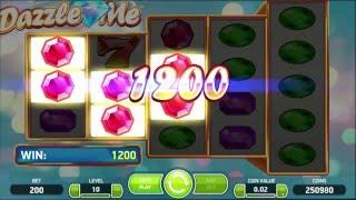 NETENT Dazzle me Slot REVIEW Featuring Big Wins With FREE Coins