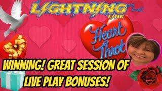 LIGHTNING LINK HEART THROB SLOT MACHINE BONUS POKIES WINNER