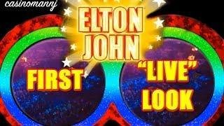 "Elton John Slot - First ""LIVE"" Look - 5-cent Slot - NEW Slot - Slot Machine Bonus"