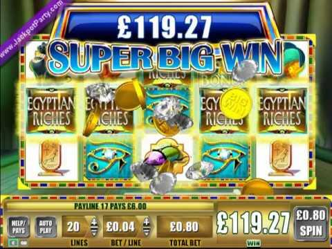 £232.80 MEGA BIG WIN (291 X STAKE) EGYPTIAN RICHES ™ BIG WIN SLOTS AT JACKPOT PARTY