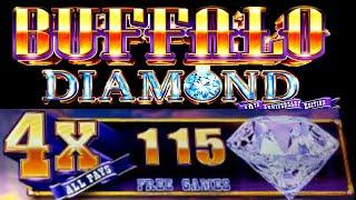 •BUFFALO DIAMOND• OVER 200 4X FREE SPINS•(extremely exciting)