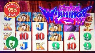 Wicked Winnings III 95% payback slot machine, 2 sessions