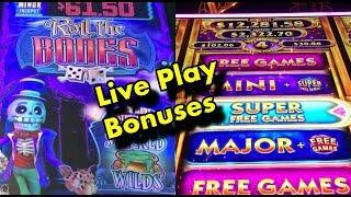 Live Play, Bonuses: Roll the Bones, Wonder 4 Spinning Fortunes