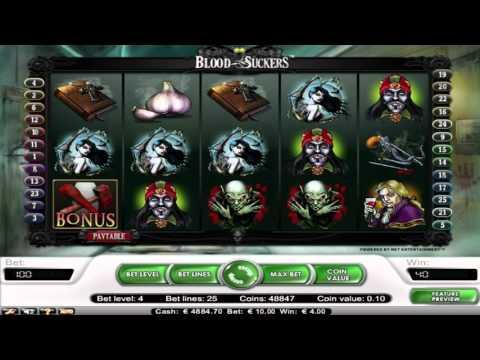 Free Blood Suckers slot machine by NetEnt gameplay ★ SlotsUp
