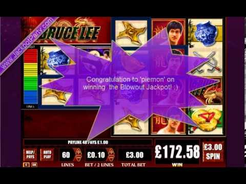 £820.76 ON BRUCE LEE™ BLOWOUT JACKPOT (274 X STAKE) - SLOTS AT JACKPOT PARTY