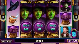 WIZARD OF OZ: I'LL GET YOU MY PRETTY Video Slot Game with a YELLOW BRICK ROAD BONUS