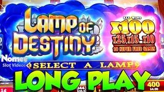 LAMP OF DESTINY Slot Machine - MAX BET Long Play with NICE Bonus Win!