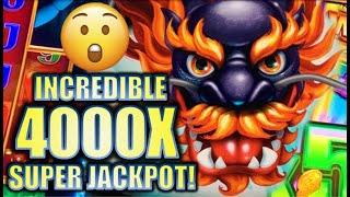 •OVER 4000X!! GUY WINS SUPER JACKPOT! • 5 DRAGONS GRAND Slot Machine Bonus BIG WIN (Aristocrat)