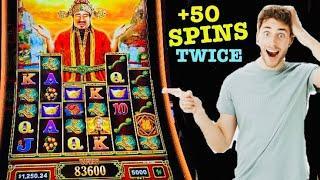 FORTUNE RULER slot machine BONUS WINS!
