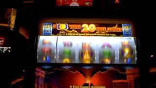 Pompeii Progressive slot machine bonus win