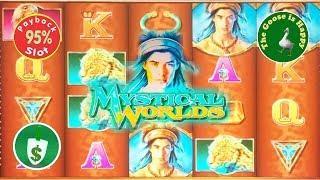 • Mystical Worlds 95% payback slot machine, bonus surprise